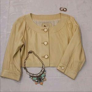 Kensie Leather Crop Jacket Size 10